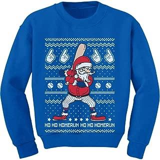 Tstars Ho Ho Homerun Santa Claus Baseball Player Ugly Christmas Toddler/Kids Sweatshirt