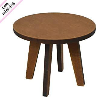 CWGmini-0189 Country Wood Garden ミニチュア家具 1/10スケール 【カフェテーブル 丸】