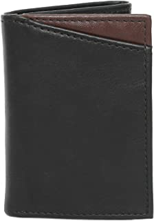 GUESS Men's Levi's Leather RFID Protection Trifold Wallet (Black)