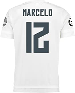 Adidas Marcelo #12 Real Madrid UEFA Champions League Home Jersey 2015/16 -YOUTH/サッカーユニフォ...