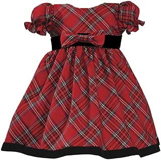 Lito Girls Holiday Christmas Year's Plaid Dress