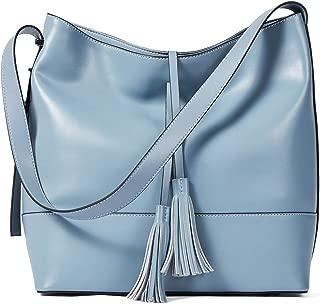 Women Leather Shoulder Bucket Handbag Tote Top-handle Purse