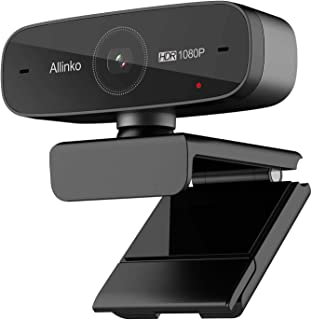 Webcam 1080P Auto Focus with HDR H.264 Dual Microphones, Allinko 660 Ultra High-Resolution Web Camera Widescreen Video Calling Recording Game Streaming, Skype Web Cam for Mac OS X Win 10 8 7 Vista