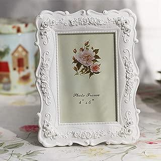 BERTERI Creative Photo Frame Roses Flowers Crystal Diamond White Europe Style Fashion Vintage Ornaments Photo Frames Home Accessories