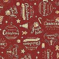 ササガワ タカ印 ラッピングペーパー クリスマス 包装紙 コルテスレッド 全判 49-4065