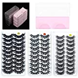 30 Pairs Mink False Eyelashes & 30PCS Eyelashes Case Full Volume Dramatic Lashes