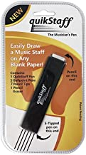 QuikStaff Musicians Pen - Draws a 5 Line Music Staff on Any Blank Paper