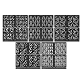 """LUCY CLAY Microstencils Texture Sheets for Polymer Clay 3.12"""" x 3.12"""" 5-pcs Set (Microstencils Set 11)"""