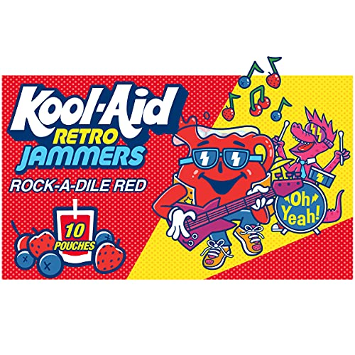 Kool-Aid Retro Jammers Rock-A-Dile Red Ready-To-Drink Soft Drink (10 ct. Box)