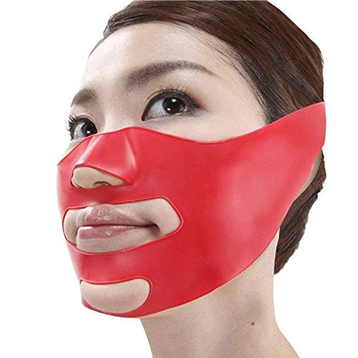 ペフ育成解体するLindexs 小顔矯正 マスク 小顔補正ベルト ほうれい線 3Dエクササイズマスク リフトスリムマスク 抗シワ サウナマスク 法令線予防 美容グッ (フリーサイズ)