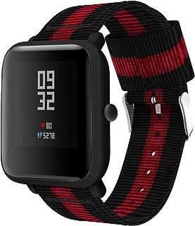 Classicase Correa de Reloj de NATO Nailon Compatible con Galaxy Watch Active/Active 2 / Active 3 / Watch 42mm, Mujer y Hom...
