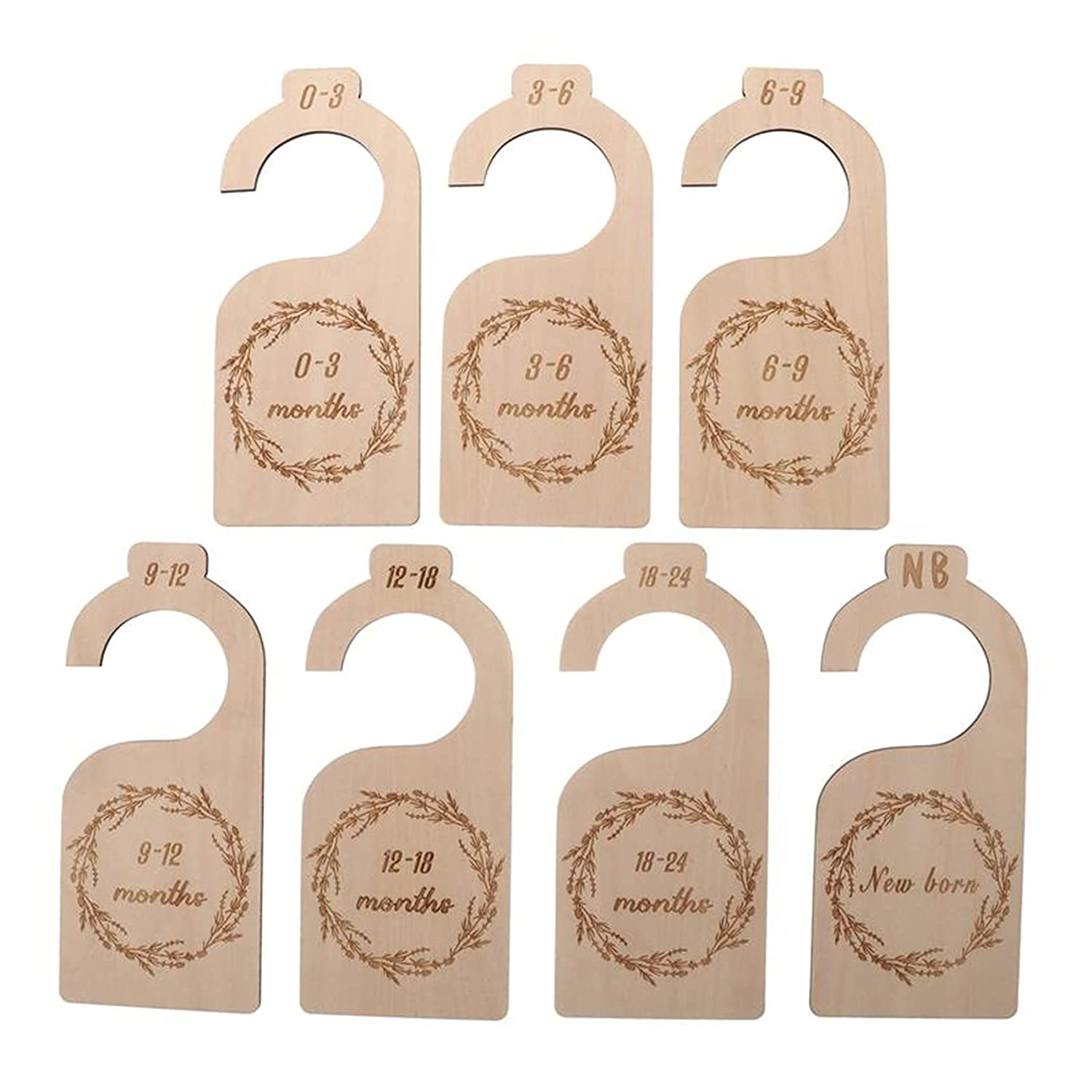 ILamourCar free Wood Baby At the price of surprise Closet Organ 7 Dividers Pieces
