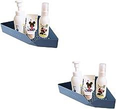 Parshall 2 STKS Badkamer Douche Hoek Plank Geen Boren Roestdicht ABS Douche Caddy Opslag voor Badkamer Keuken, 21,7 * 21,7...