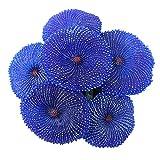 Soapow Hermosas plantas de acuario emulacionales de silicona artificial coral decoraciones de pecera azul