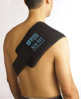 """Cold & Hot Therapy System Ice Pack Wrap for Shoulder, Back, Leg and Abdomen - Ice It!® MaxCOMFORT™ (Large Design; 6"""" x 18"""") - F30540"""