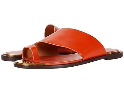 Tory Burch Selby Toe Ring Slide (Pomander/Elba Camello) Women