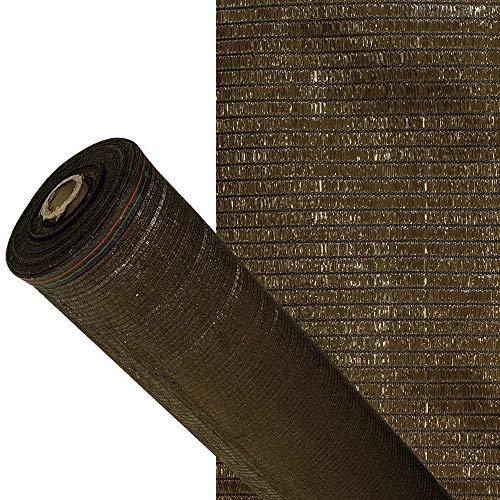 Malla Sombreo 90%, Rollo 1,5 X 50 Metros, Reduce Radiación, Protección Jardín Y Terraza, Regula Temperatura, Color Marrón