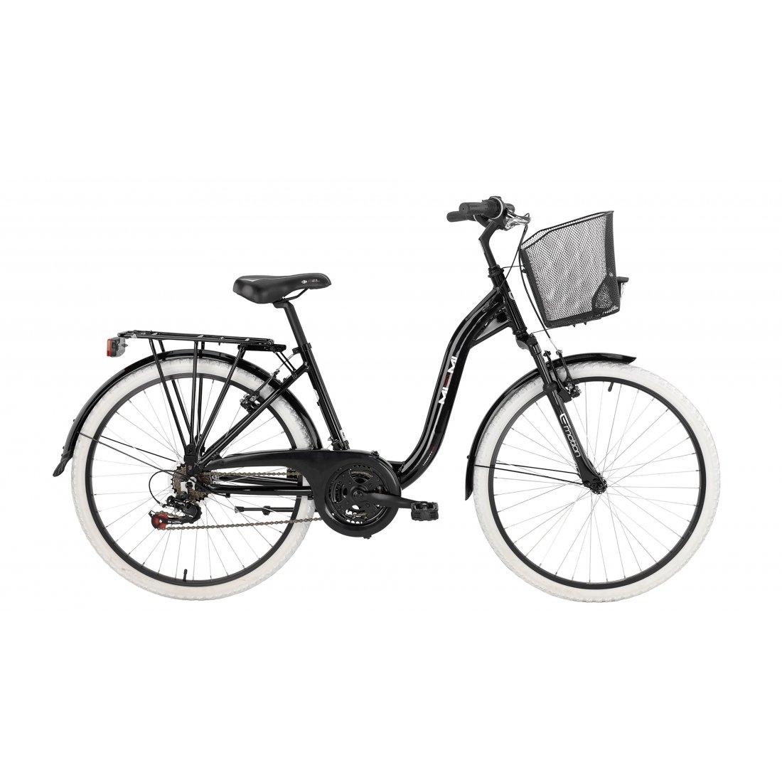 Bicicleta de ciudad de señora BH MIAMI Pro, color negro/rojo 2016 ...