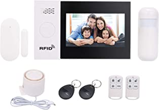 Sazoley 433MHz Wireless WIFI + GSM + GPRS 2G SMS Auto-dial Alarm Security System LCD Display Door Sensor PIR Motion Sensor...
