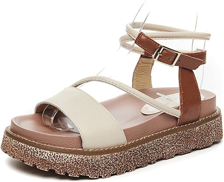 CJC Sandals Womens Gorgeous Women's Flatform shoes Chunky Peep Toe