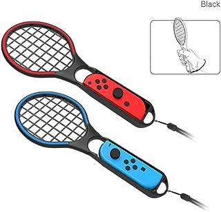 MaxKu【2019 登場】 Nintendo Switch テニスラケット マリオテニス エース Joy-Conハンドル スイッチ ジョイコン専用 ラケット型 任天堂スイッチコントローラ Joy-con おもちゃのテニスラケット【ブラック2個】