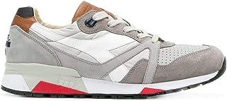 Luxury Fashion   Diadora Heritage Men 20117278275043 Grey Leather Sneakers   Spring-summer 20