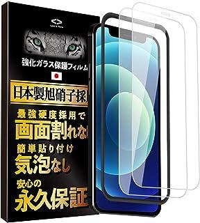 Less is More iPhone 12 Pro Max ガラスフィルム 全面保護 【ガイド枠付き】(2枚入) 防指紋 気泡なし 強化ガラス TM-9011