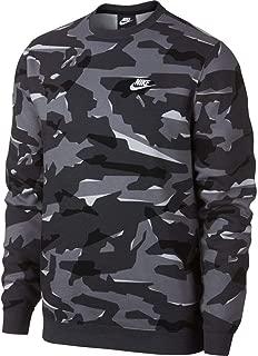 Sportswear Club Men's Camo Fleece Crewneck Sweatshirt