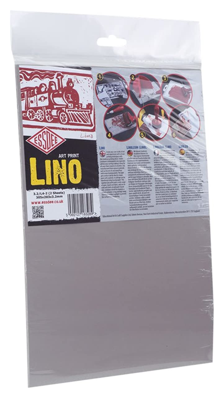 3.2/L4 Lino Printing Block 300x200x3.2mm Pack of 2