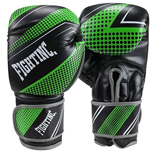 Fightinc. Boxhandschuhe Plasma schwarz/grün (001) 14 Oz
