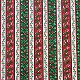Patchworkstoff Weihnachten 0,5 * 115 cm Ilex gestreift rot