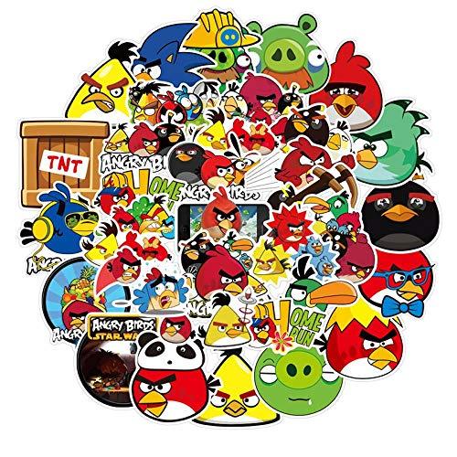 YLGG 100 Piezas Angry Birds Pegatinas de Graffiti Impermeables para computadoras portátiles, patinetas, Maletas, Cascos, teléfonos móviles, Motocicletas, automóviles, etc.