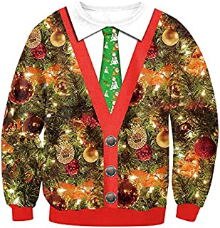 Women Autumn Winter Blouse Christmas Print Santa Tree Snowflake Long Sleeve Casual Xmas Sweatshirt Pullover Tops