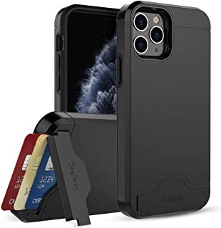Teelevo Wallet Case for Apple iPhone 11 Pro (2019) with Card Slot Holder and Kickstand - Black