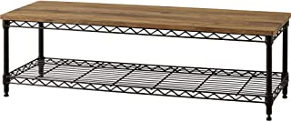 アイリスオーヤマ テレビ台 ミドルタイプ ブラウン 幅約101cm 奥行101cm 高さ41.12cm 32型 メタルラック オープン 組み立て 耐荷重30kg CML-10302