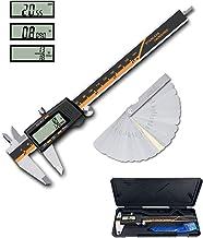 "Digital Caliper, ROFMAPLE 0-6""/150mm Vernier Caliper with Feeler Gauge, Inch/Metric/Fractions Micrometer Caliper Measuring..."