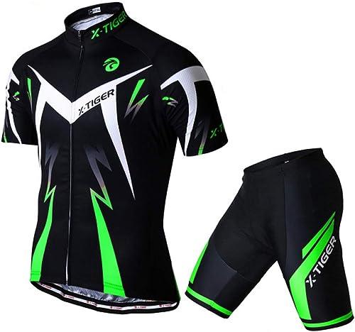 Compression Shirt Set Set de Cyclisme vélo Combinaison de Transpiration Estivale Transpirant Hommes Chemise de Sport d'équitation
