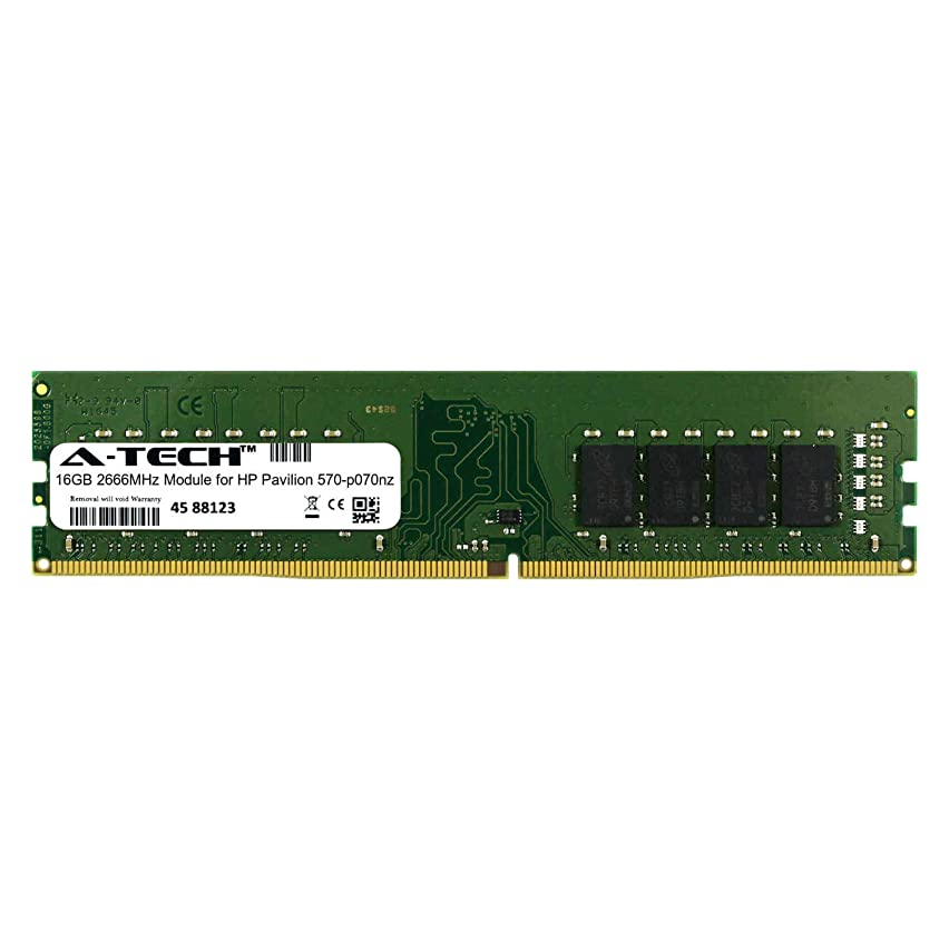 A-Tech 16GB Module for HP Pavilion 570-p070nz Desktop & Workstation Motherboard Compatible DDR4 2666Mhz Memory Ram (ATMS311152A25823X1)