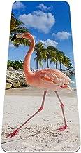 Yoga Mat Antislip TPE flamingo strand Hoge dichtheid vulling om pijnlijke knieën te voorkomen, Perfect voor yoga, pilates ...