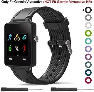 Garmin Vivoactive Band,Meifox Solf Silicone Wristband Replacement Bands for Garmin Vivoactive Watch. (Black)