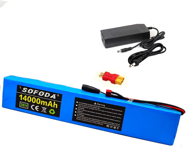 Ranking TOP20 36V Ebike Battery 10S4P 14Ah Pack 200W Mail order high Po 750W 500W