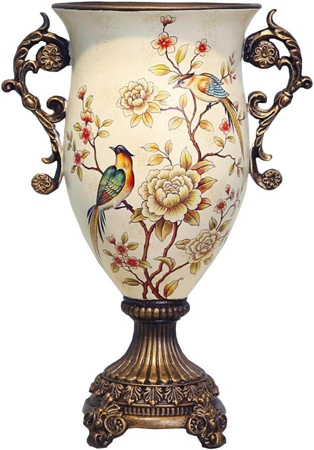 ZR-DECOR European-Style Retro Resin Max 74% OFF Large Livin for Flower Vases Lowest price challenge