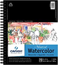 CANSON Artist Series Montval Watercolor Paper Pad, Heavyweight Cold Press and Micro-Perforated, Side Wire Bound, 140 Poun...