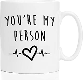 You're My Person Coffee Mug - Grey's Anatomy TV Show Merchandise, 11 Ounces Great Gift for Friends, Wife, Husband, Sister