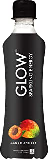 GLOW Beverages Premium Sparkling Infused Energy Drink - 12 Pack 10.8oz Plastic - Mango Apricot - Vitamins & Antioxidants