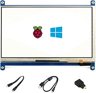 Waveshare 7inch HDMI LCD (C) Capacitive Touch Screen Display Supports Various Systems for All Ver. Raspberry pi 3 Model B/3 B+ 2B/B+/B/A BeagleBone Black Banana Pi/Pro Video Photo Kit