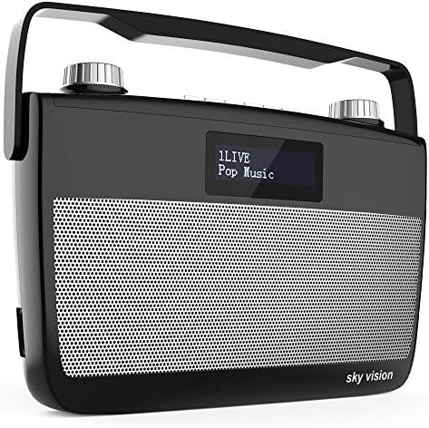 Sky Vision Dab 7 S Dab Digital Radio Fm Ukw Empfang Tragbar Für Unterwegs Batterie Betrieb Möglich Plus Kopfhörer Anschluss Schwarz Heimkino Tv Video
