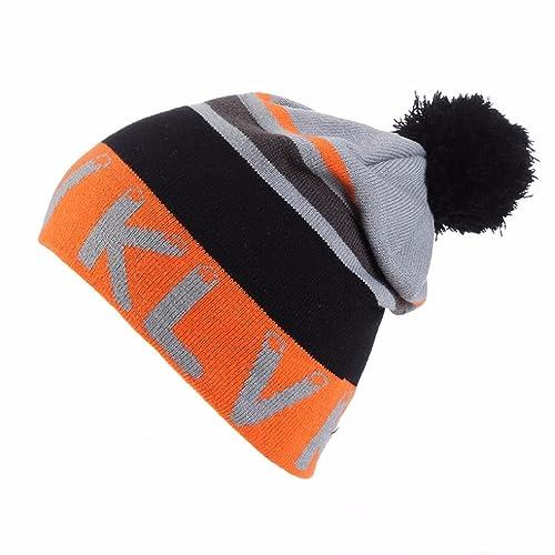 e12e8443 Quistal Brand Unisex Women's Men Winter Warm Fur Knit Bobble Pom Pom Beanie  Bobble Baggy Crochet
