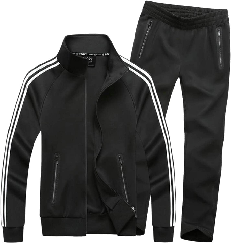 Keaac Men Athletic Set Warm Running Jogging Sportwear Sweat Suit Tracksuit