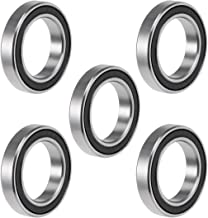uxcell 6803-2RS Deep Groove Ball Bearing 17x26x5mm Double Sealed ABEC-3 Bearings 5-Pack